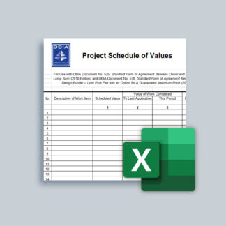 Contract - DBIA 500-D1 - Project Schedule of Values