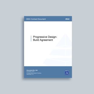 DBIA 544 - Progressive Design-Build Agreement