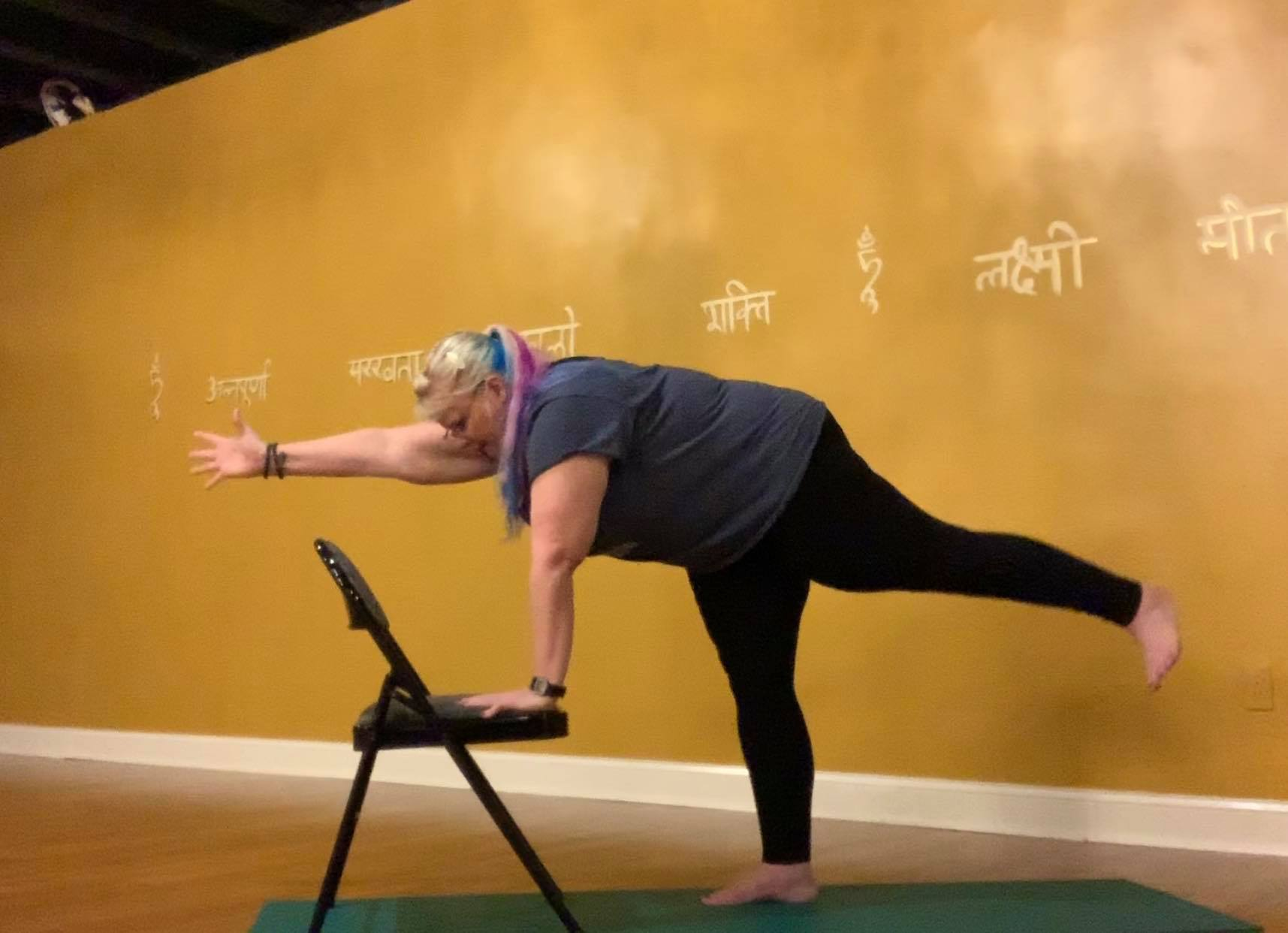 Chair Yoga: Neutral Spine Core Work (5:46)