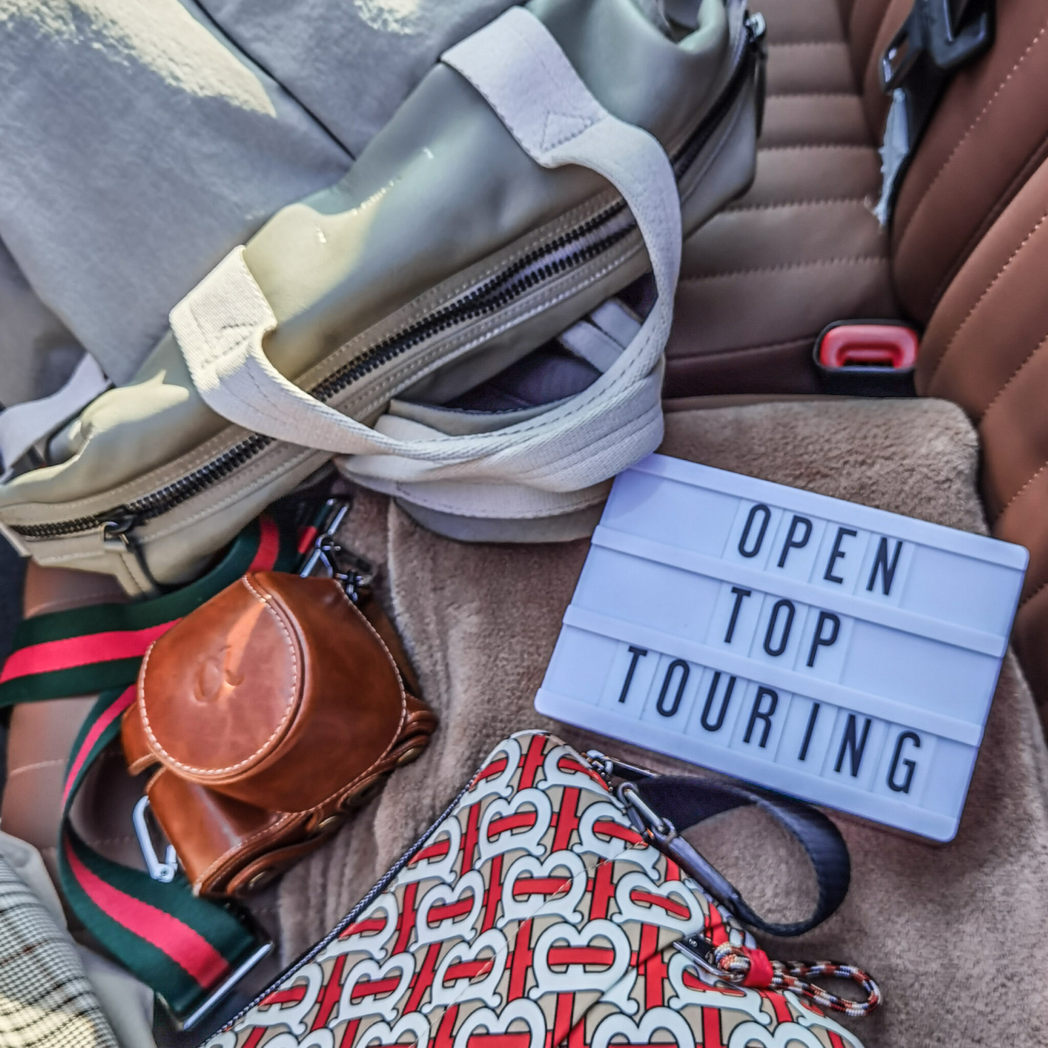 Mount Royal Hotel - Pursuit - Banff - Canadian Rockies - Open Top Touring - Car Flatlay
