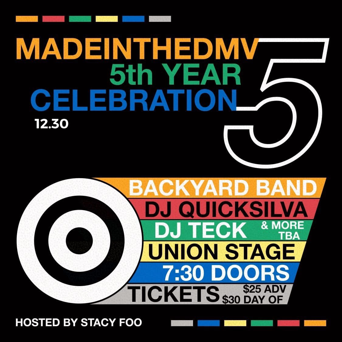 WE TURN 5. COME CELEBRATE WITH US