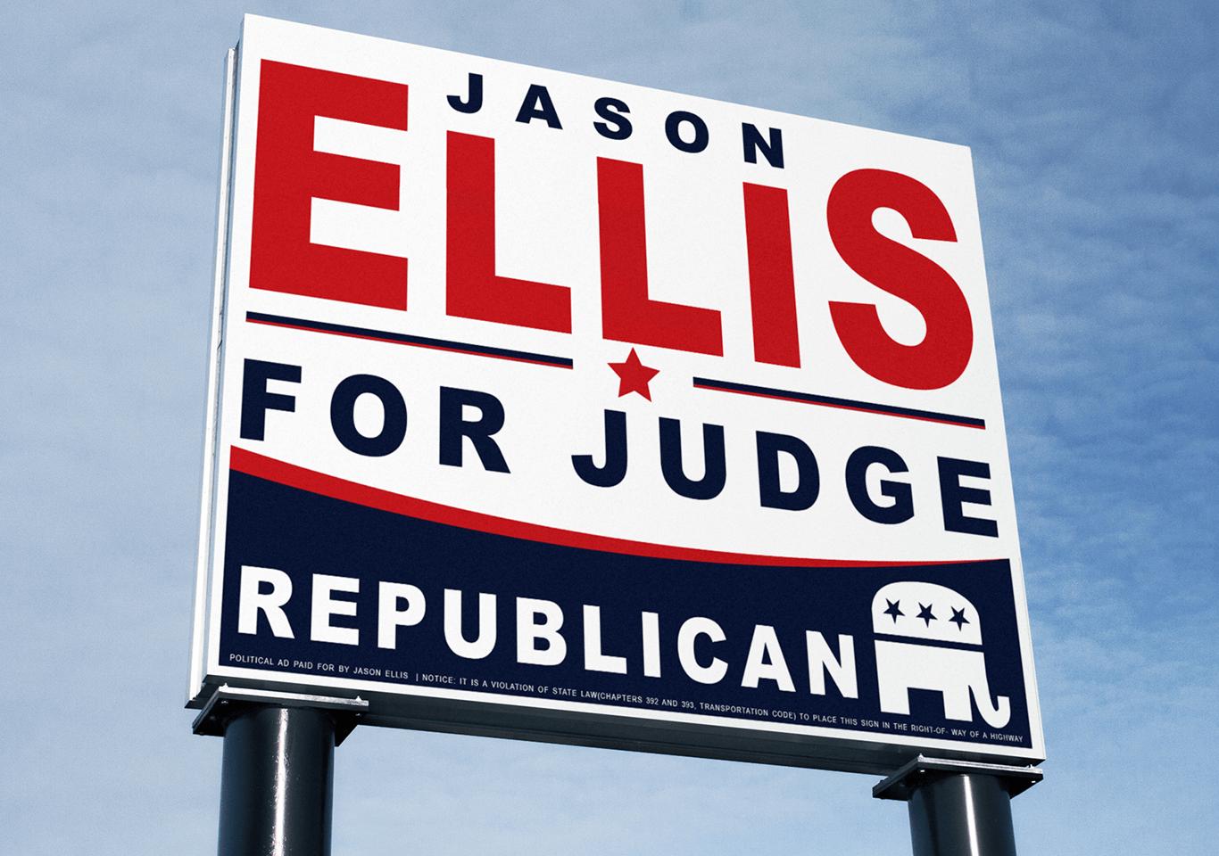 Jason Ellis Outdoor Sign