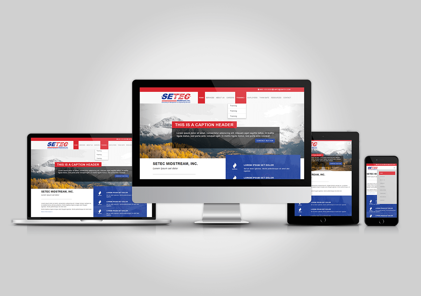 SetecMidStream.com Responsive Website