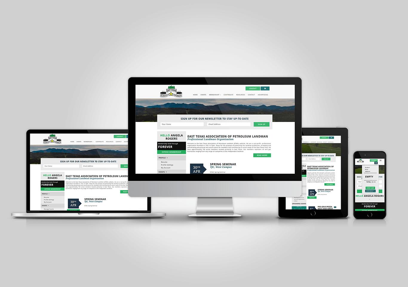ETAPL.org Responsive Web Application