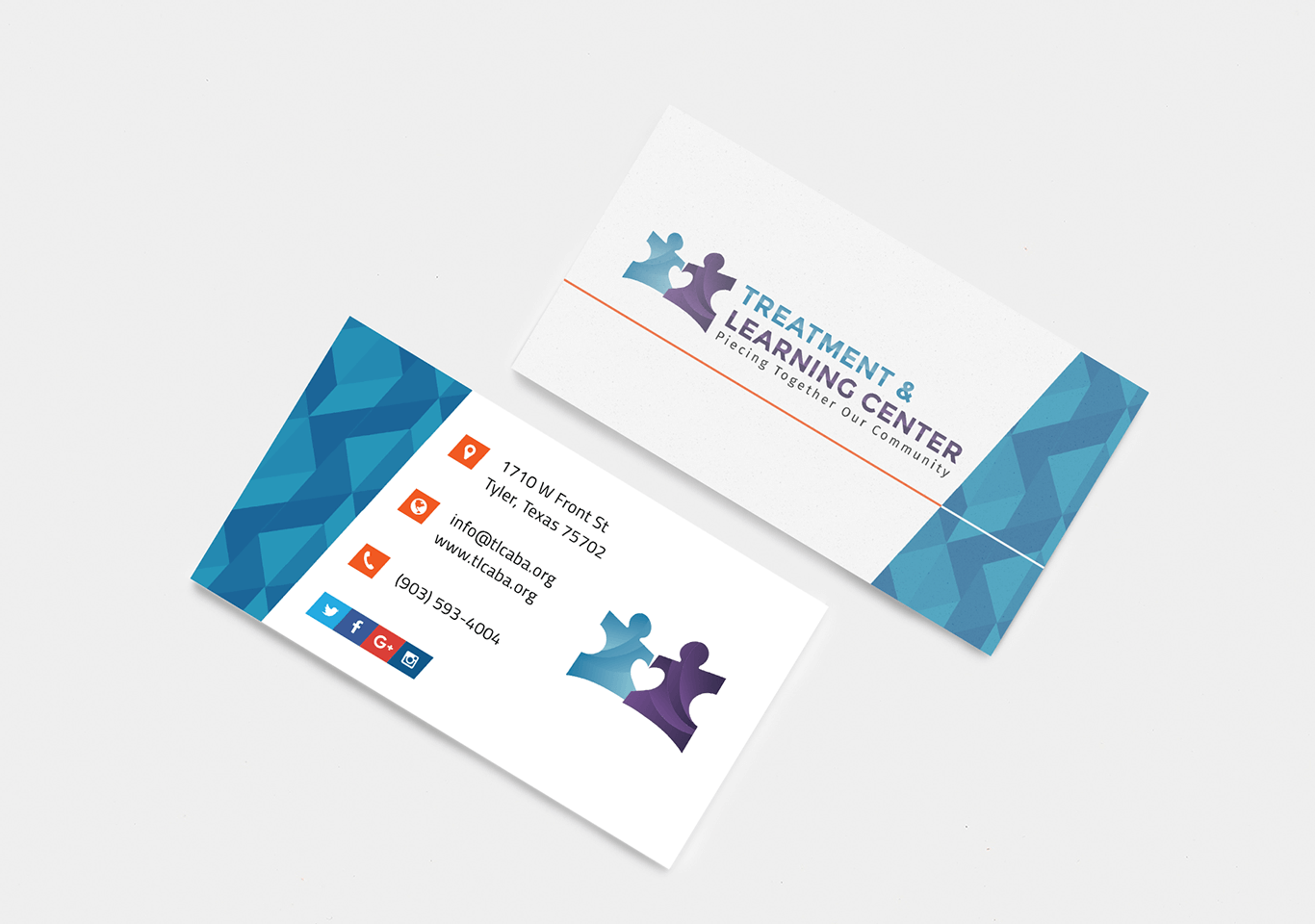 Treatment & Learning Center Business Cards