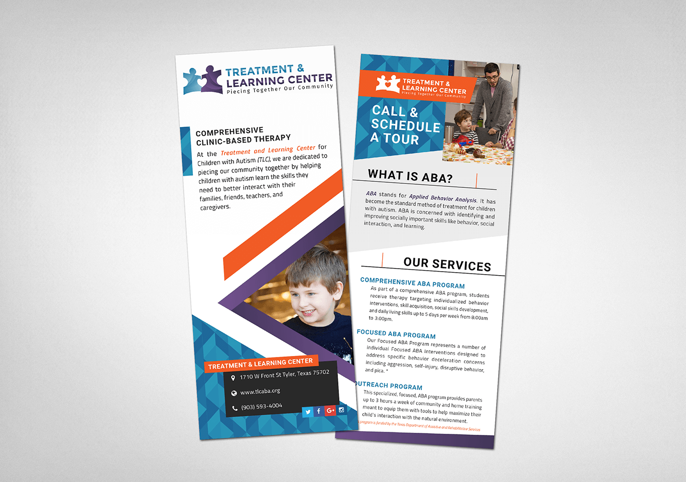 Treatment & Learning Center Rack Cards