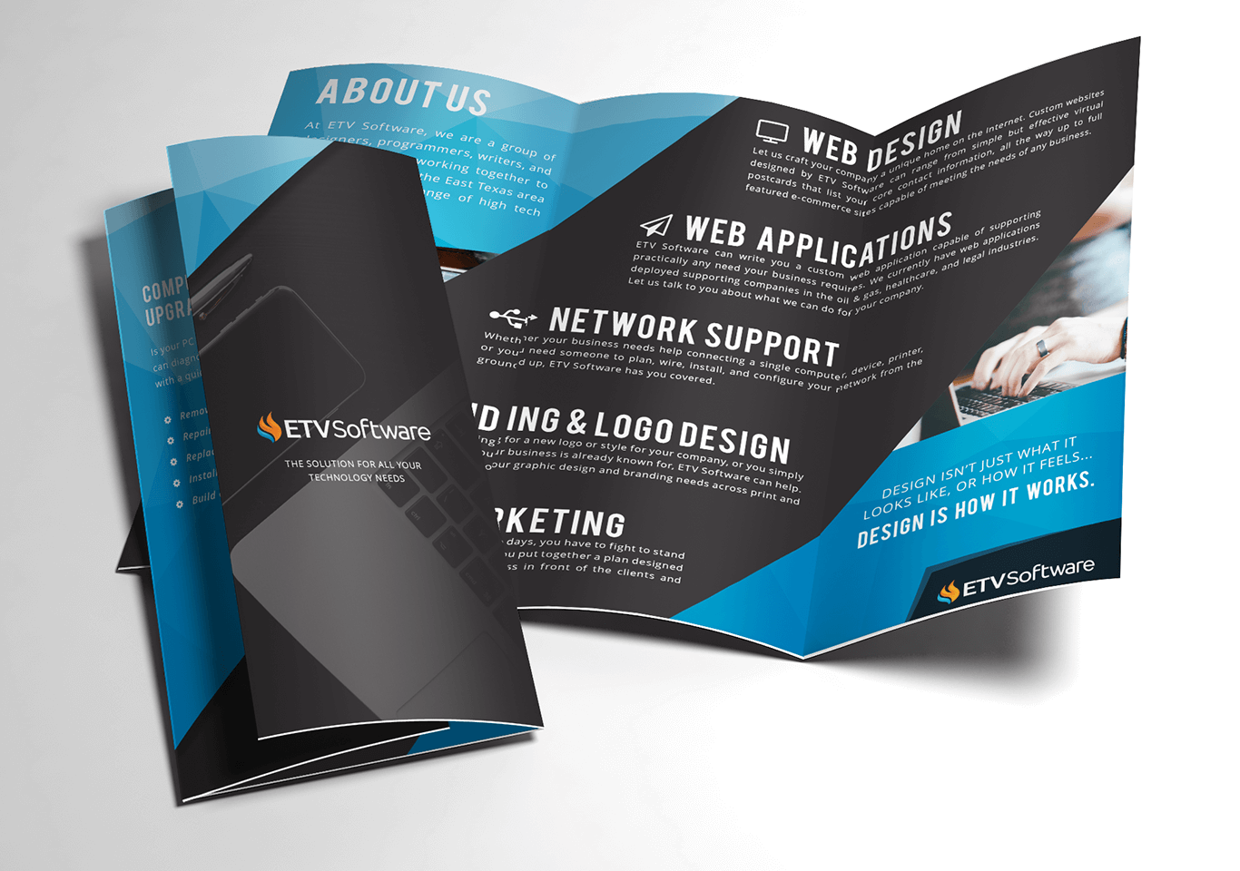 ETV Software Trifold Brochure