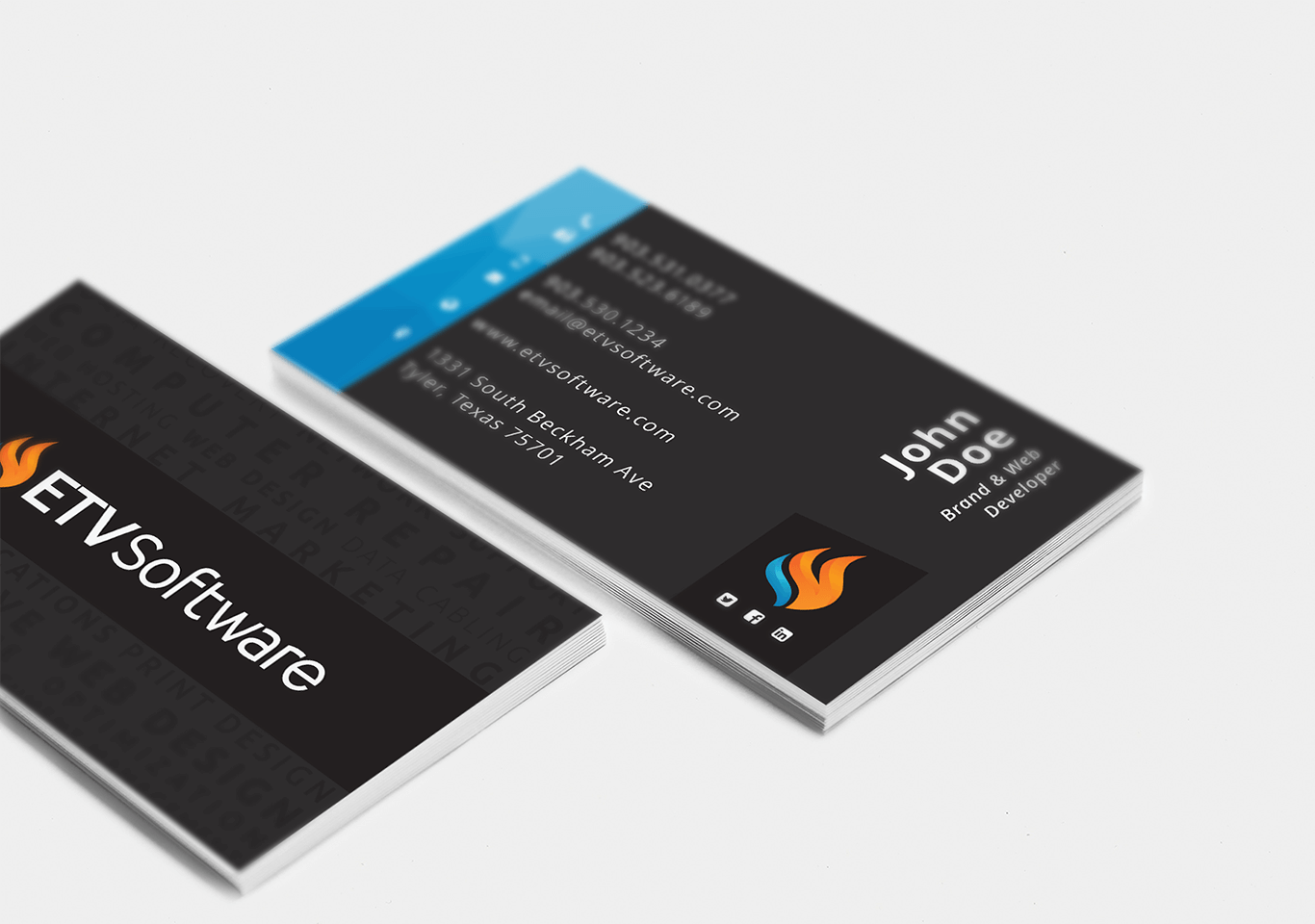 ETV Software Business Cards