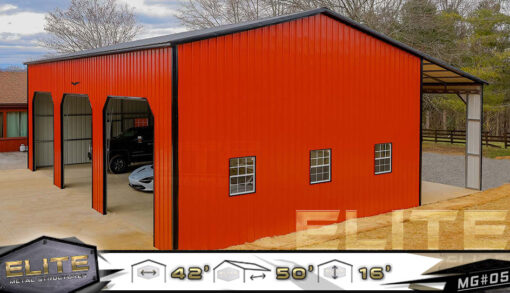 42x50x16-Side-Entry-Garage-Building-All-Vertical-MG-05-Side-Shot-944x542