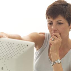 Woman Using Computer
