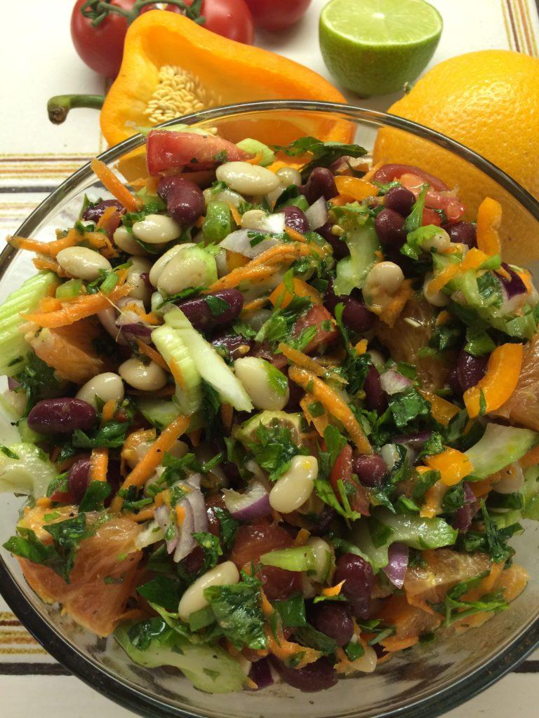 Red and White Bean & Orange Salad