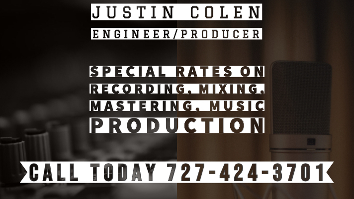 Justin Colen Productions Clearwater Recording Studio