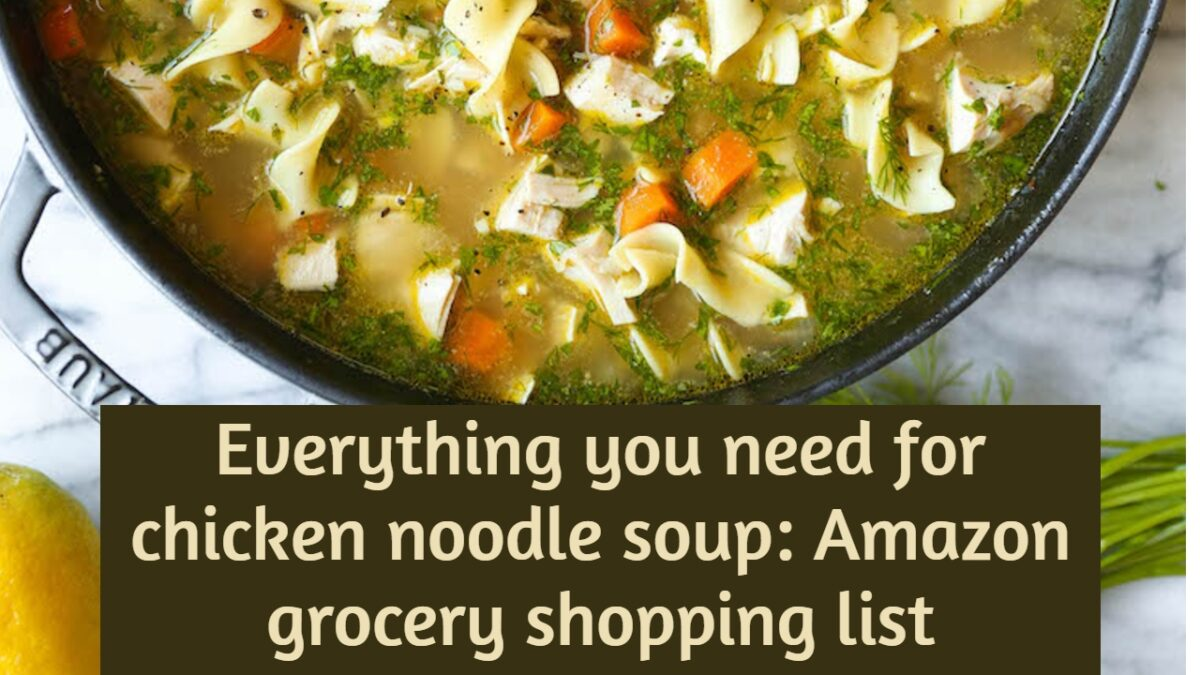 everything you need for chicken noodle soup amazon