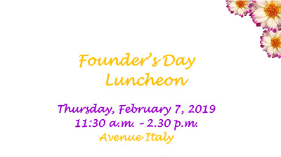 Founder's Day Luncheon 2019