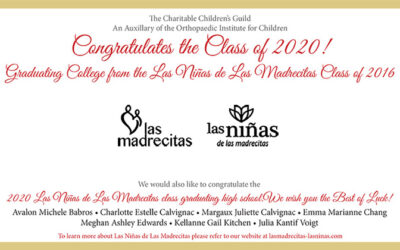 Congratulations to the Class of 2020! Graduating College from the Las Niñas de Las Madrecitas Class of 2016.