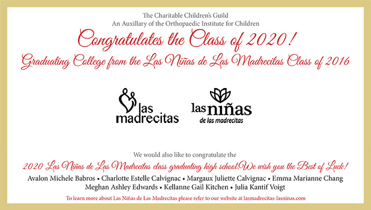 Congratulations to the Class of 2020! Graduating College from the Las Niñas de Las Madrecitas Class of 2016.