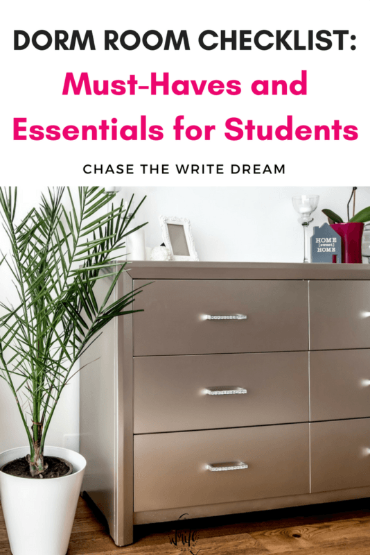 Dorm room ideas, decor, and organization for college students. Take a look at this dorm room checklist and buy the essentials before you arrive to school. Be sure to repin for reference!