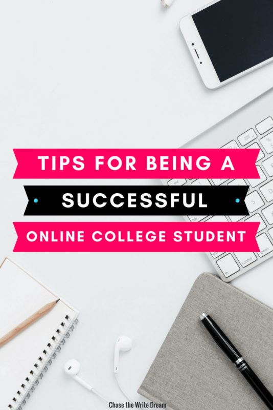 Online college tips to help you be a successful student. If you're taking distance education classes, you don't want to miss this post. I'm sharing online learning tips for managing your time, studying, and more! Click through to read.