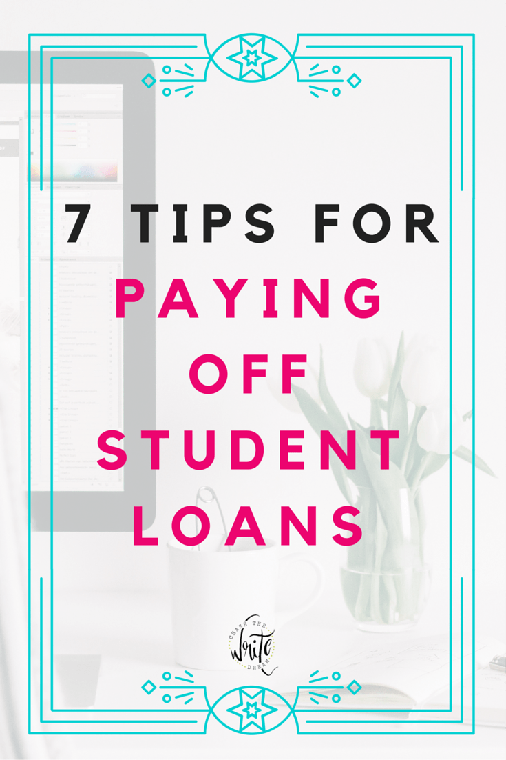 7 Tips for Paying Off Student Loans | Paying for college means getting loans for many college students. Stop the madness and get out of debt quicker with these tips! Click through to check 'em out!