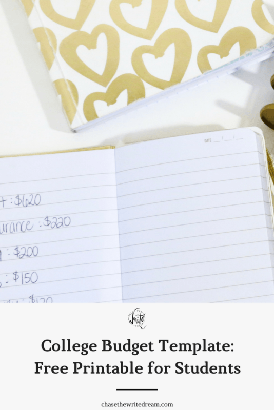 College Budget Template - Free Printable for Students | Looking for ways to save money, track expenses, and manage financial aid? These budgeting sheets for college students will help you do just that! Click through to get yours!