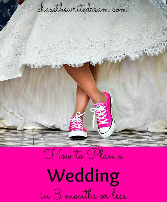 how to plan a wedding in three months