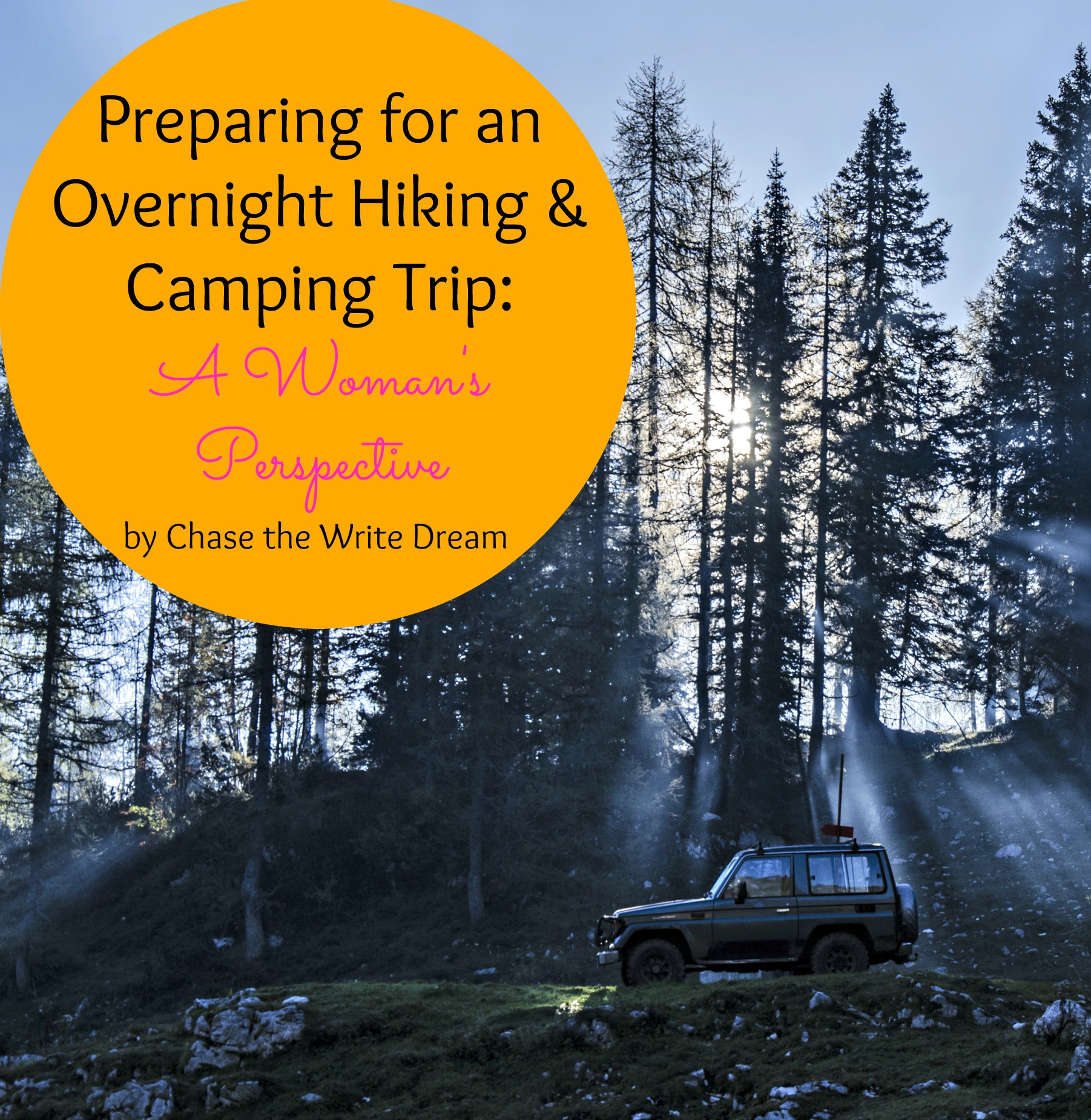 overnight hiking and camping trip
