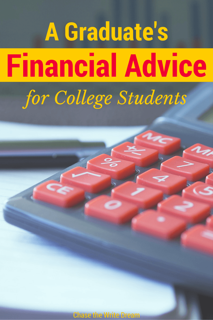 Financial Advice for College Students: A Graduate's Tips - Understanding the different types of financial aid available, as well as how to manage your money are extremely important things to understand. Pin this post and refer back to it as you prepare for each semester. Remember, saving money now and reducing your debt will set you up for a better financial situation when you graduate.