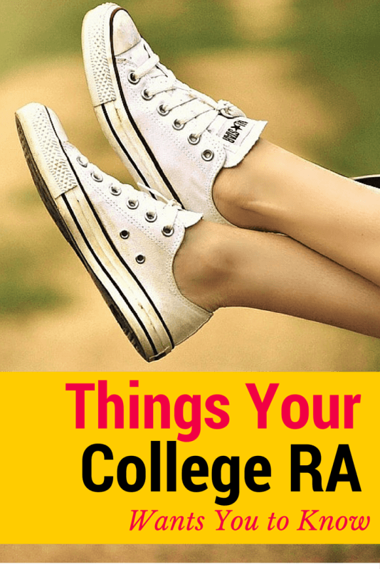 Things Your College RA Wants You to Know - College tips for campus life and living in the dorms with a resident assistant.
