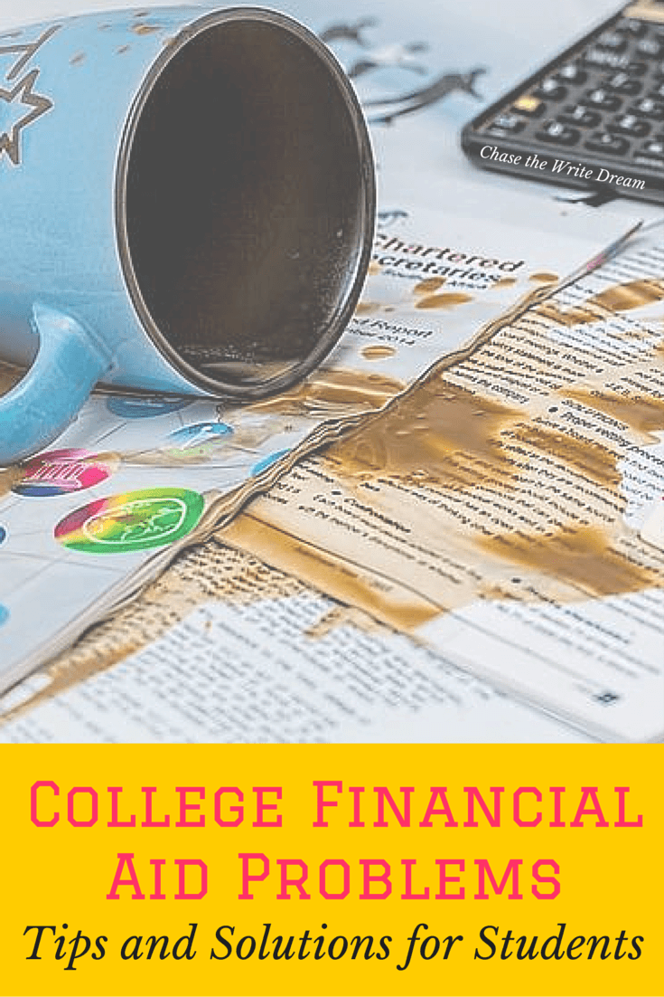 College Financial Aid Problems: Tips and Solutions for Students   Financial aid tips for college students relating to award amounts, scholarships, student loans, and ways to save money and reduce educational costs
