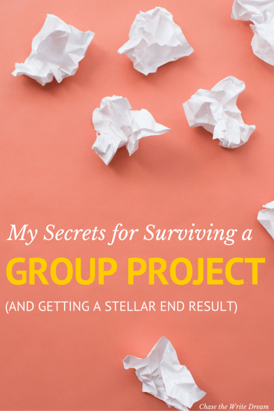 My Secrets for Surviving a Group Project (and Getting a Stellar End Result) | Whether you're a college student working on a project or a professional who is part of a team, these tips for working in groups will help you get focused, stay organized, and produce an awesome end result. Getting good grades is possible with these college tips!