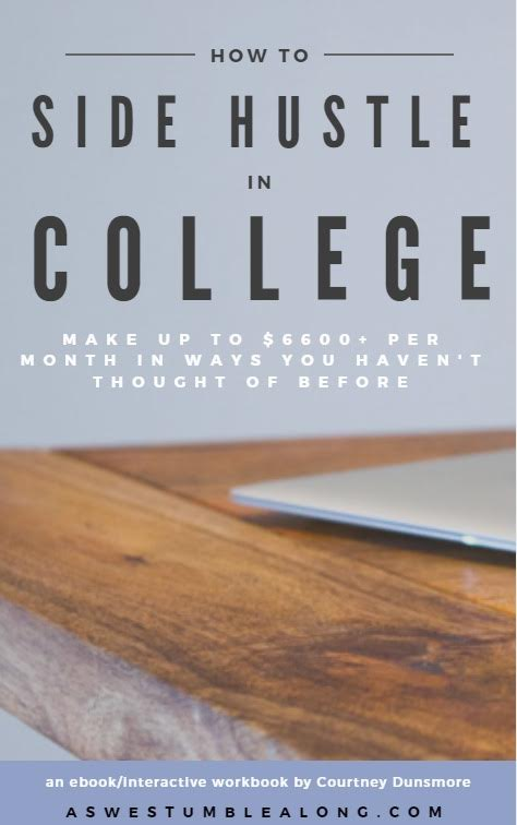 Making Money as a College Student: It's Easier Than You Think | This ebook/workbook is the perfect solution for students who want to take control of their work schedule and make money on their own terms.