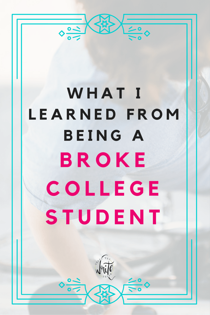 What I Learned From Being a Broke College Student | Even if you aren't making a lot of money as a student, there are still plenty of life lessons you can learn along the way, such as budgeting and investing in things that matter. Every college student should read this!