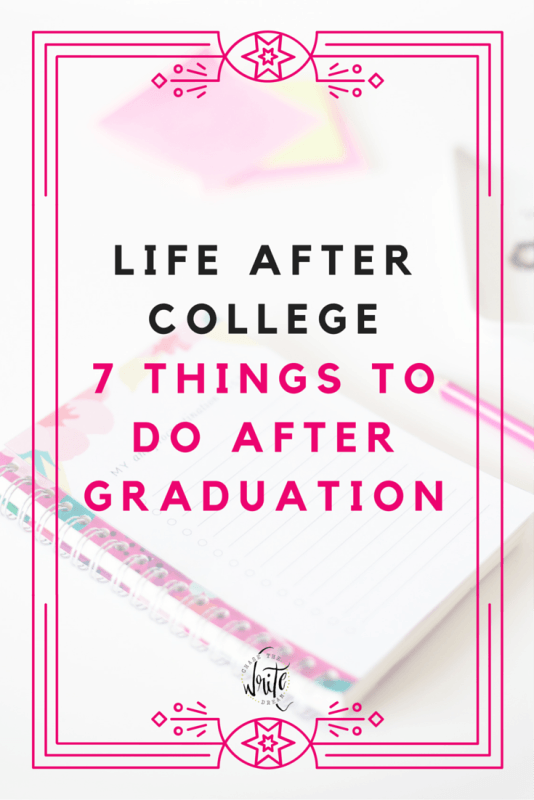 Life After College: 7 Things to Do After Graduation | Your college student years are behind you and it's time to start focusing on being an adult, getting a job, and launching into your career. You also need to manage your money and take care of all your necessities. Talk about work! This post will help you focus on those things that will make adulthood a little bit easier for any college students and recent grads. Click to read about the things to do after college!