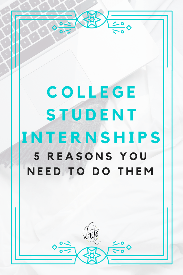 College Student Internships: 5 Reasons You Need to Do Them | College is more than just getting an education. Gaining valuable work experience is an important resume builder as well. Check out my reasons for why you need internships and how to get started!