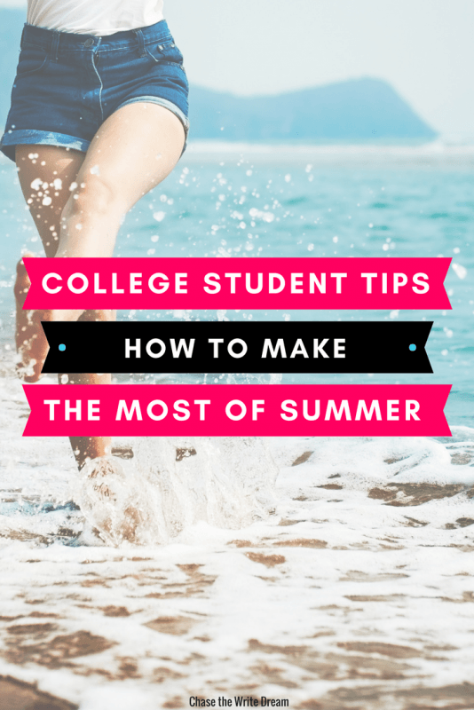College student tips and ideas for a productive summer break. Build your job skills, learn about a career, enjoy your relationships, and more with these thought starters. #college #summer