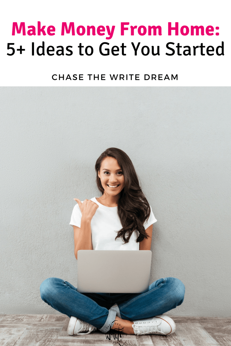 Make Money From Home: Looking for opportunities to work online? Here are 5+ ideas to get you started, including blogging tips, freelancing, and more! Work from home opportunities are out there!