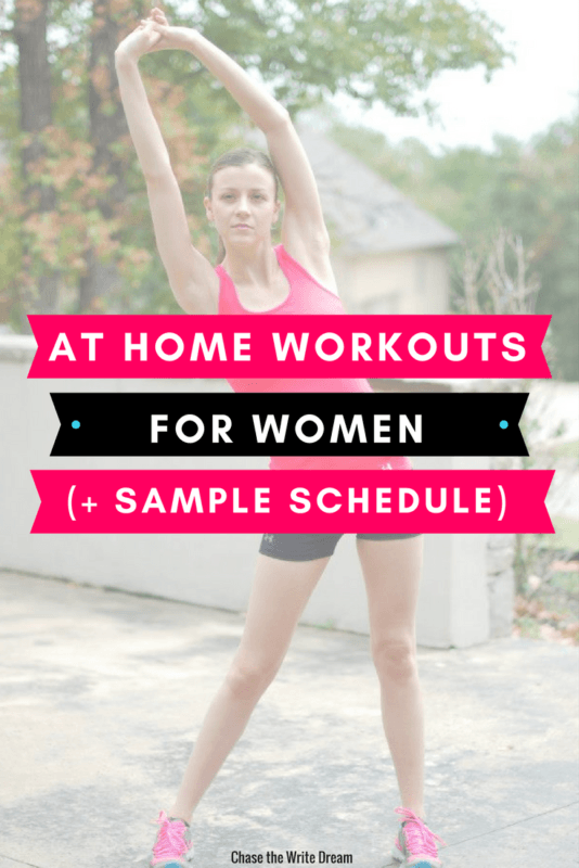 Your free workout plan begins here! Find your fitness motivation at home and exercise for free with these videos. Build muscle, lose weight, and feel good. I've also included a sample workout schedule to help you get started! #fitness