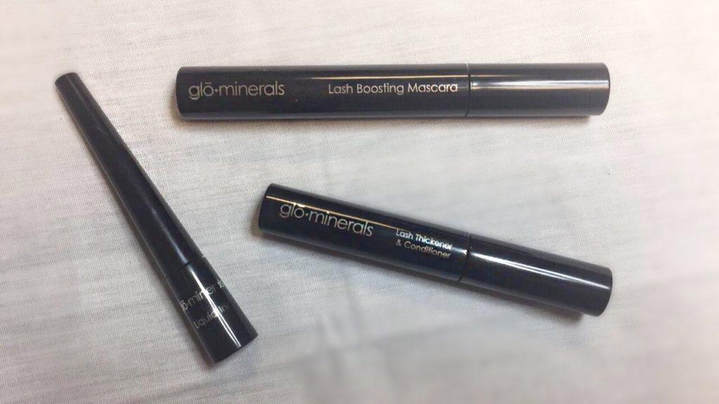 liquid eye liner, lash thickener and conditioner, lash boosting mascara