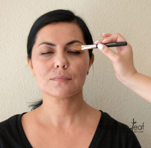 bareMinerals Prime Time Eyelid Primer Applied