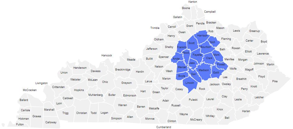 Kentucky Servicing Map
