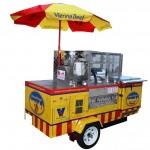 carro de hot dogs al vapor
