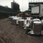 wrigley field seating installation delivery