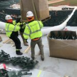 wrigley feild seating installation