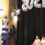 New Orleans Chapter member Sunni LeBeouf gives the Commencement Speech at Mary McLeod Bethune Elementary Charter School