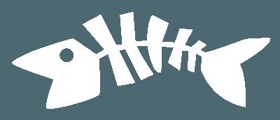 Dead Fish Logo-white