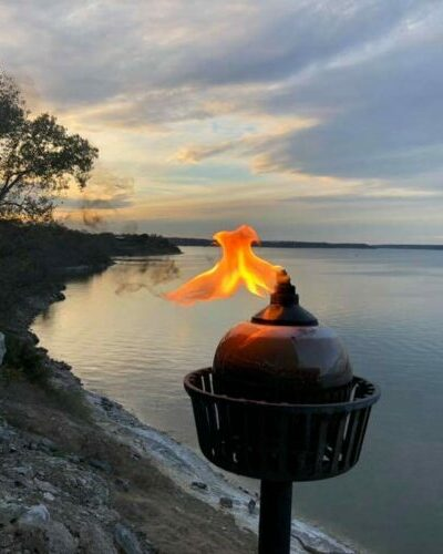 The beautiful view of Belton Lake is sure to keep you captivated at Dead Fish Grill.
