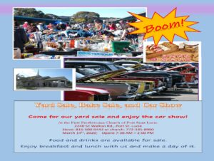 Yard Sale - Bake Sale - Car Show @ First Presbyterian Church of Port St. Lucie