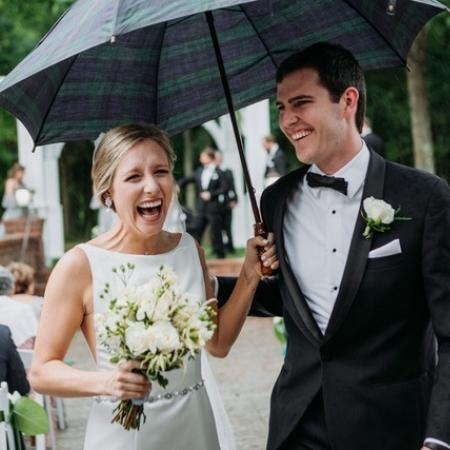 bride-and-groom-after-ceremony-The-Brawley-Estate-Mooresville-North-Carolina-Histoirc-and-Timeless-Event-Venue