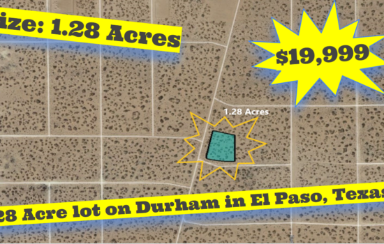 1.28 Acre lot on Durham in El Paso, Texas – H779-062-4710-0080