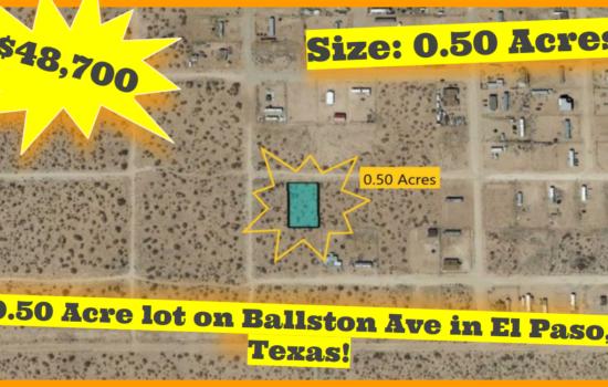 0.50 Acres on Ballston Ave in El Paso, Texas – H779-090-7760-0020